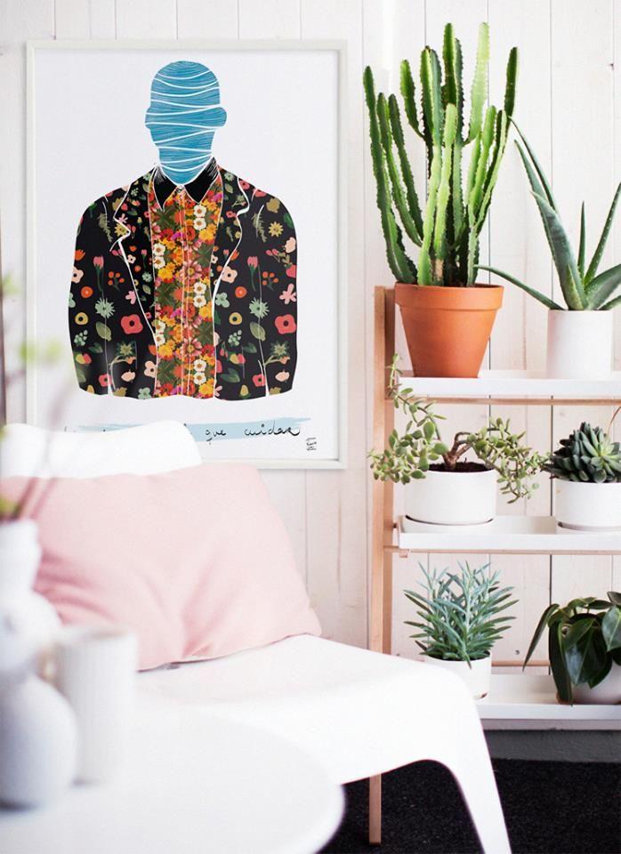 """GRANDES FORMATOS Hay rincones que simplemente llaman a la relajación y el bienestar, esta lámina nos encanta como acompañante:""""Un Jardín para Cuidar"""" de la artista Rebecka Skogh www.latiendadeldesvan.es"""