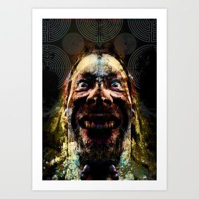 Crazy Wisdom Art Print by Johannes Kamikaze - $18.00