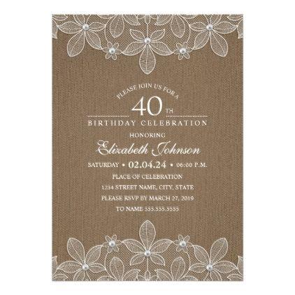 The 25 best 40th birthday invitations ideas – 40th Birthday Party Invitation Ideas