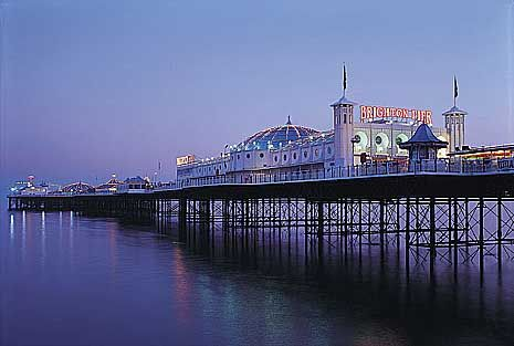 Brighton, England, this is a very cool place with a summer palace and a boardwalk but still a very small township.  Spent the night in a tiny cute B&B on the way through Kent.