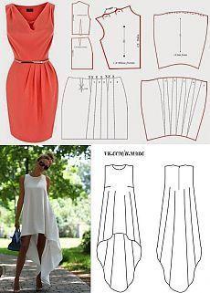 I modelli di abbigliamento femminile.