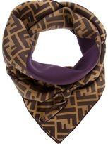 purple silk scarf-fendi monogram scarf