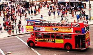 Groupon - Sunday Funday Four-Hour Double Decker Bus Pub Crawl for One or Two from Big Red Bus (Up to 63% Off) in Tilted Kilt Long Beach. Groupon deal price: $22