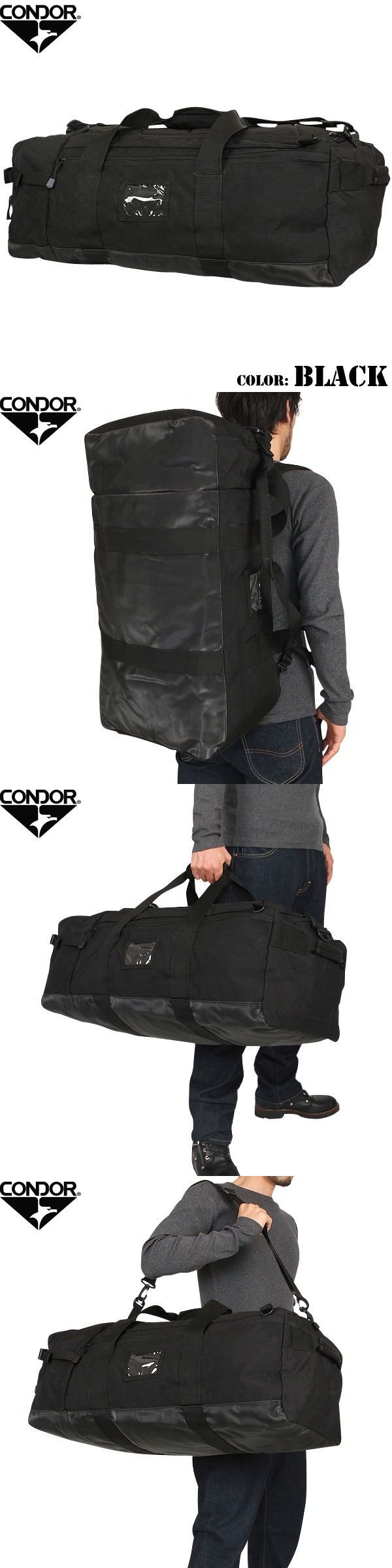 Hunting Bags and Packs 52503: Condor 161 Black Colossus Tactical Duffle Bag Backpack Shoulder Bag -> BUY IT NOW ONLY: $59.55 on eBay!