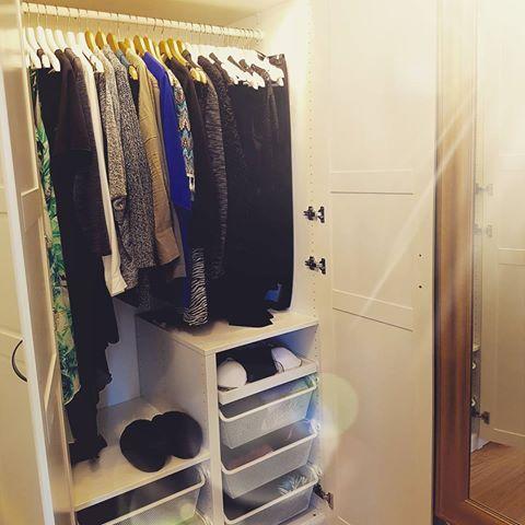 Nya garderober i klädkammaren på plats 🌞 Nu fattas bara nytt innehåll med 👏  #förvaring #garderober #klädkammare #ikea #pax #nytthus2017 #nybygge #nybygge2017 #inredning