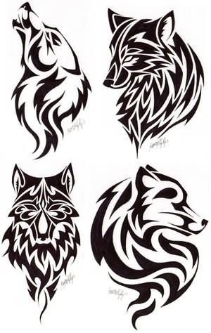 Wolf Tattoos Pictures and Images... There's just something about the simple tribal looking tats