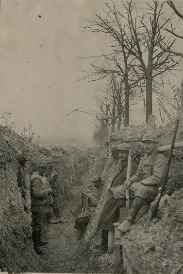 WWI, 29 Dec 1916; Fort de la Pompelle, Champagne. Source; Delcampe