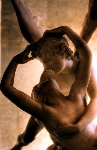 Psyche Revived by Cupid's Kiss, Louvre Museum, Paris I { I have been blessed to have stood beside this marble beauty in the Louvre, Paris France. }