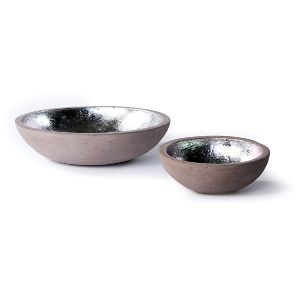 only $50 New Rustics Mason Stone Silver-Lined Bowl | Pure Home