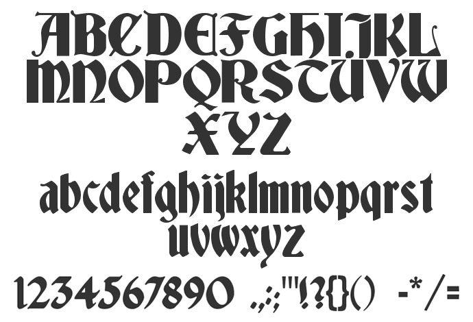 Calligraphy Fonts Medieval Medieval Calligraphy Fonts