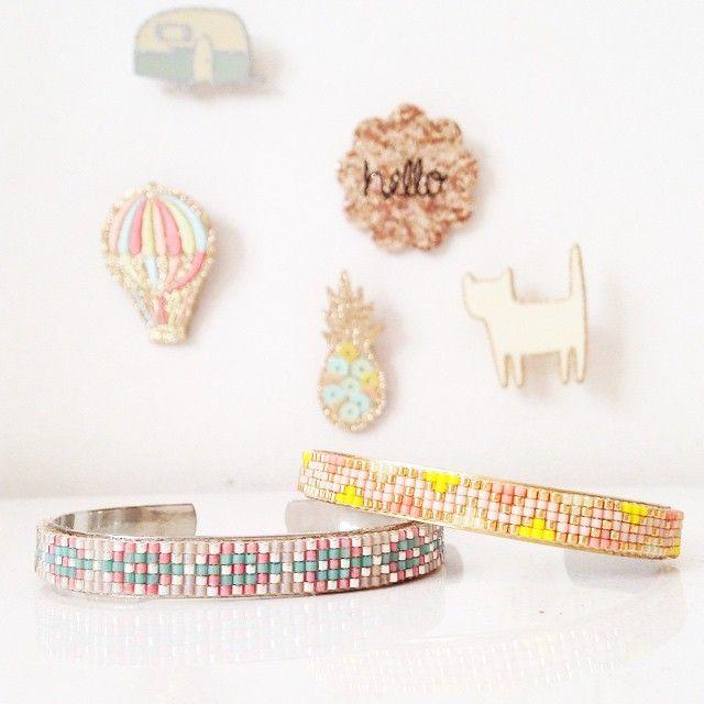 Bracelets Miyuki pour Des Petits Hauts rosemoustache.com