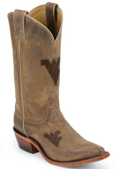 Nocona West Virginia Mountaineers College Boot - Snip available at #Sheplers