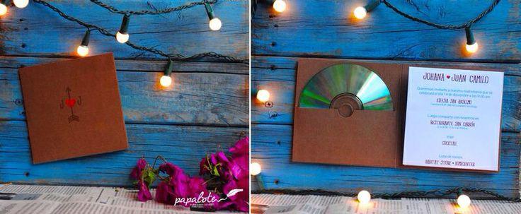 invitación para Matrimonio estilo Moderna Paleta de color: chocowhite Disponible en Medellin - Colombia Envíos a todo el Pais