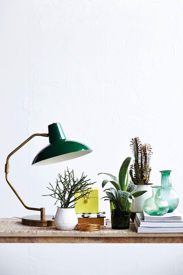 Lampe à poser Desk, House Doctor #design #industriel #metal #gold #green #home #deco #decoration #light #luminaire