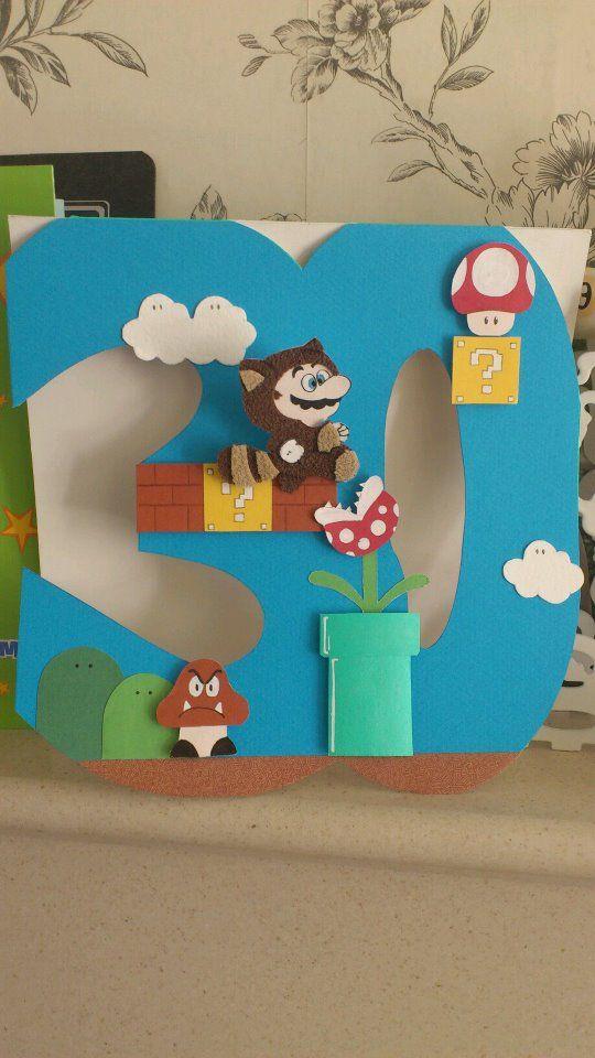 Super Mario Bros 30th Birthday card