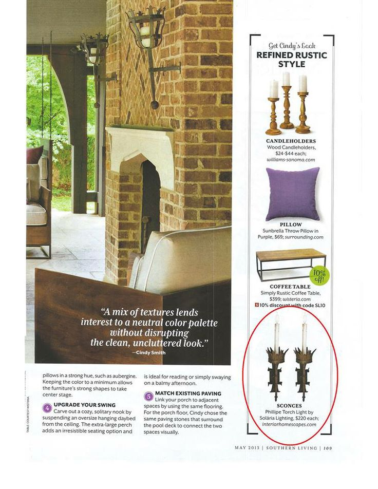 Southern Living May 2013 pg. 109   Solaria Phillipe Torch Light