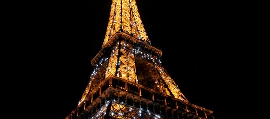 EIFFEL TOWER RESTAURANTS - 58 TOUR EIFFEL - DINNER. Booked for Thursday 25/9/14 at 9.00pm