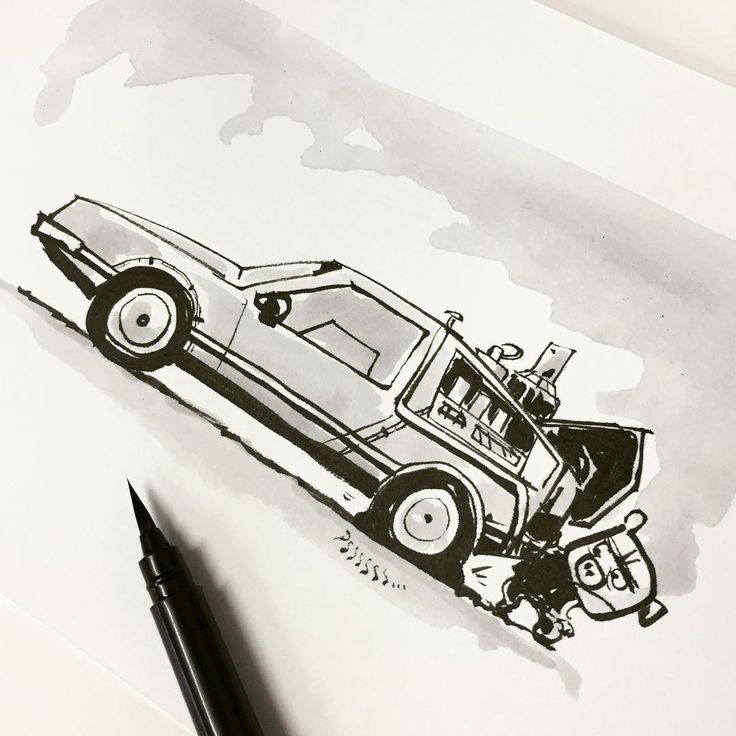 The reason I never got back to the future... Ink on Paper  #inktober #inktober2015