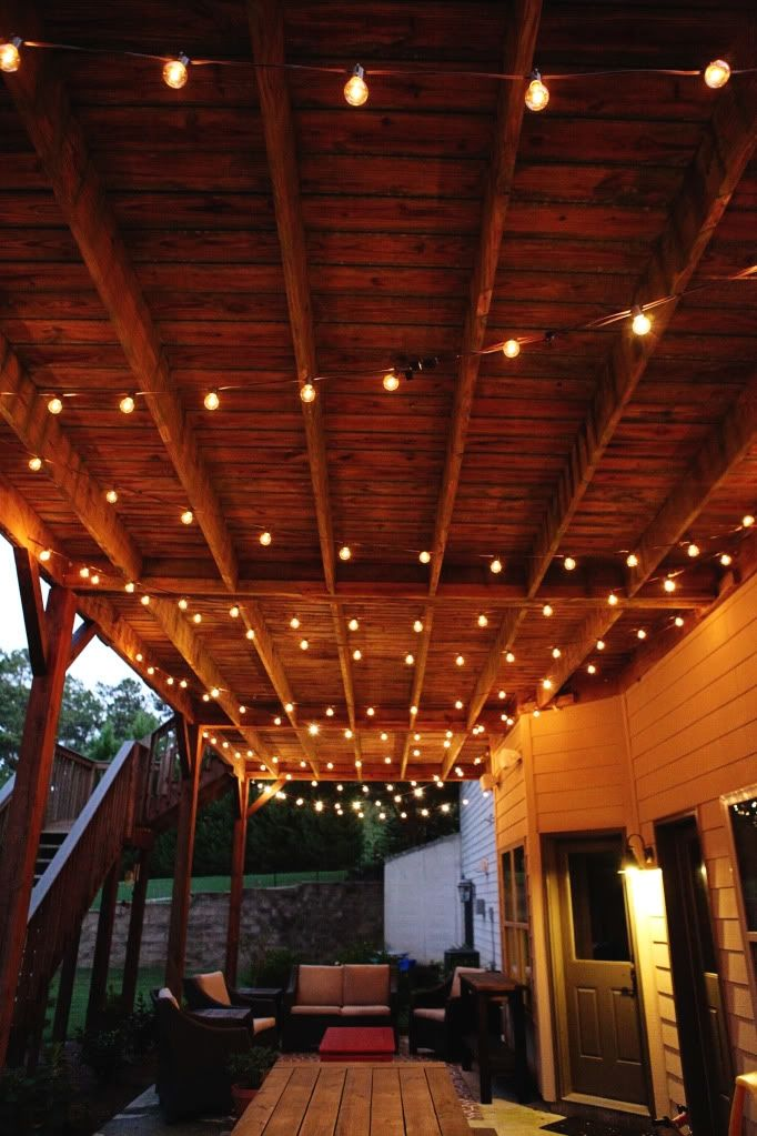 Awesome Patio Lighting Ideas You Can Create Yourself To Add Beauty To Your Home Patio Ceiling Lighting I Outdoor Patio Lights Apartment Patio Patio Lighting