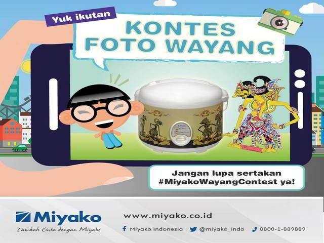 Kontes Foto Wayang Miyako Berhadiah Produk Miyako - Hai sobat MisterKuis! Miyako sedang mengadakan kontes foto berhadiah produk Miyako dengan total jutaan