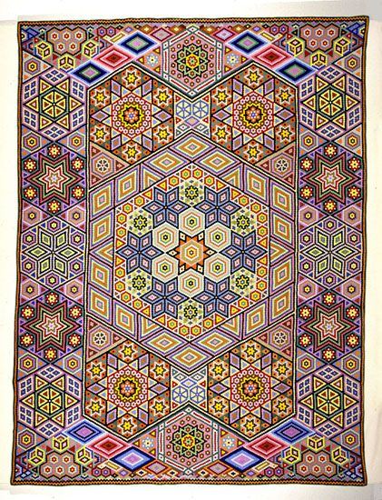 Free Quilt Pattern For Hexagon : 70 Best images about Quilts - Hexagons on Pinterest Antique quilts, Quilt and Bed quilts
