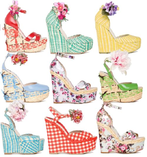 Like Easter Eggs!: Style Staples You, Shoes Wedges, Fashion Places, Fashion Style, Summer Style, Shoes Sandals, Summer Wedges, Shoes Floral, Floral Fashion