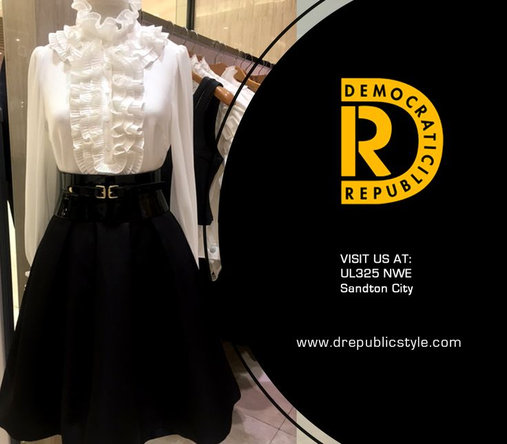 2 days to go.... what will you be wearing for New Years Eve? for clothing you won't get anywhere else visit #DemocraticRepublic Sandton City Shopping Centre