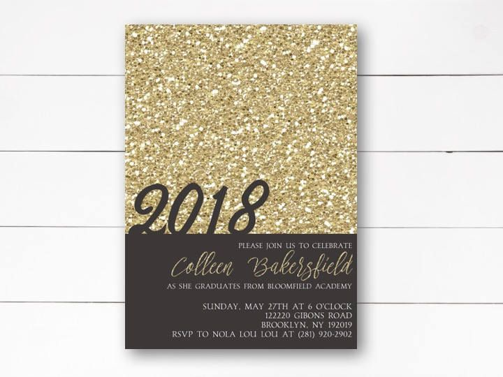 Elegant Graduation Invitation 2018 Grad Announcement Party