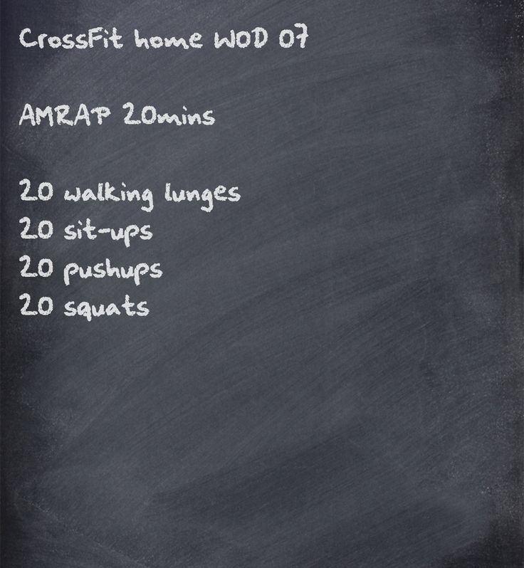 CrossFit home WOD. AMRAPs are perfect for periodically checking fitness progress