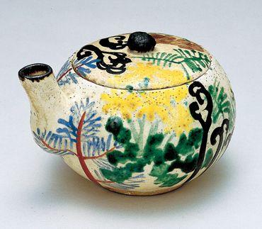 「色絵春草文汁注」尾形乾山 江戸時代18世紀前半 サントリー美術館