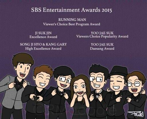 List award for RM Family in SBS Entertainment Awards 2015 #runningman