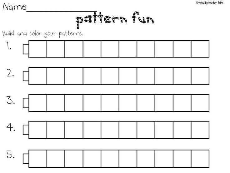 57 Best School Gr.1 Patterning Images On Pinterest | Number