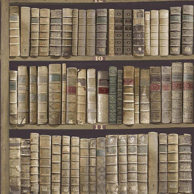 Brewster Trinity Library Green Book Wallpaper
