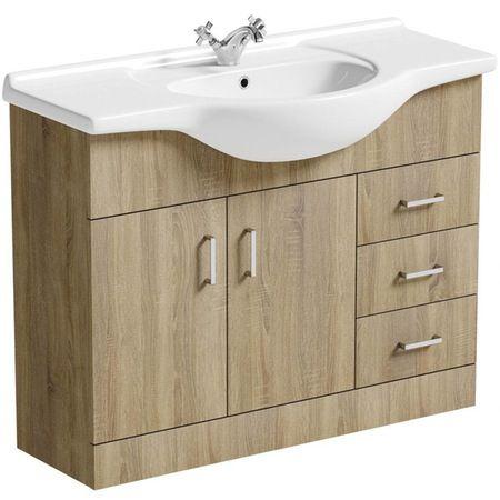 Sienna Oak 105 Vanity Unit & Basin
