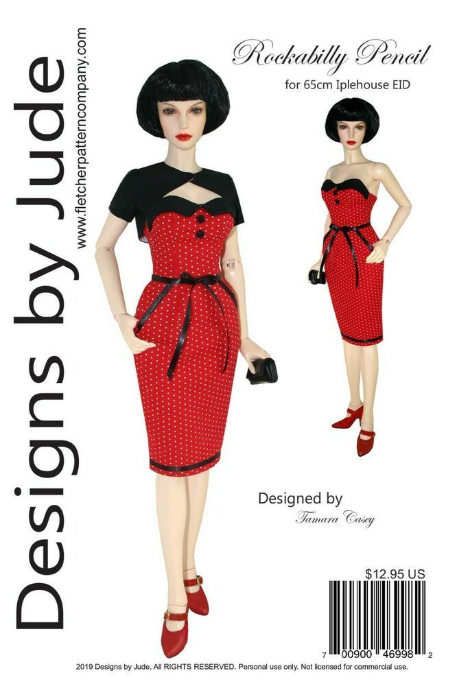 Bewitching Lingerie Doll Clothes Sewing Pattern for Ellowyne Dolls Tonner
