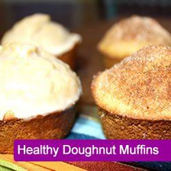 Healthy Doughnut Muffins    http://www.busybuthealthy.com/2012/02/09/healthy-doughnut-muffins/#