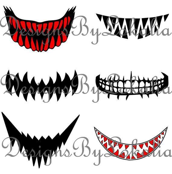 Scary Mouth Svg Bundle Custom Mask Mouth Svg Bundle Creepy Etsy Mask Drawing Mouth Drawing Mask Images