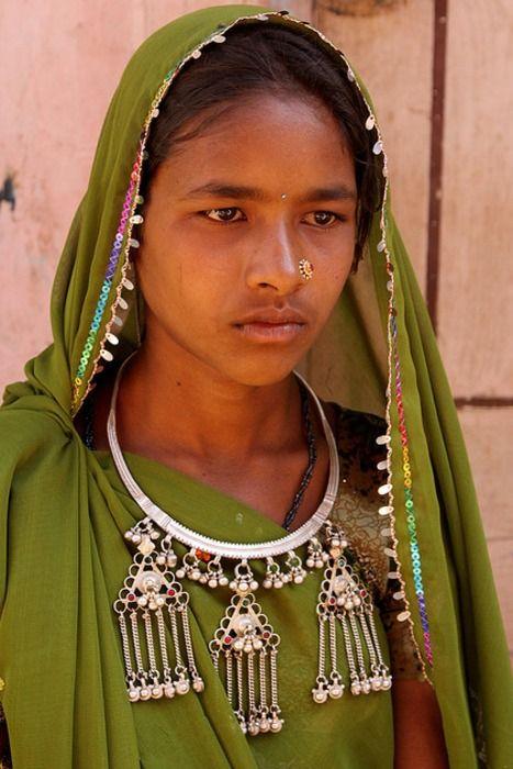 Bhil girl tribal. Gujarat. India.
