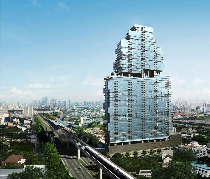 Bangkok Sathorn, Condo designed by Tandem Architects (2001)
