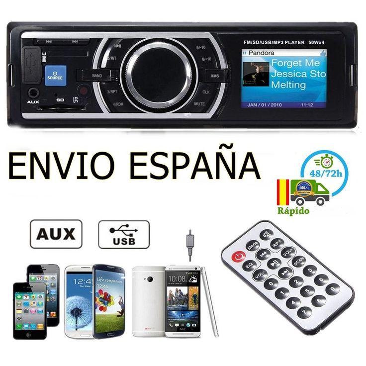 Bluetooth FM Radio Coche Estéreo MP3 Reproductor Receptor AUX-IN USB SD MMC 1DIN