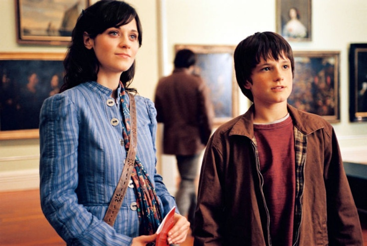 Josh Hutcherson as Jess Aarons and Zooey Deschanel as Ms.Edmonds in Bridge to Terabithia. They both look adorable here.