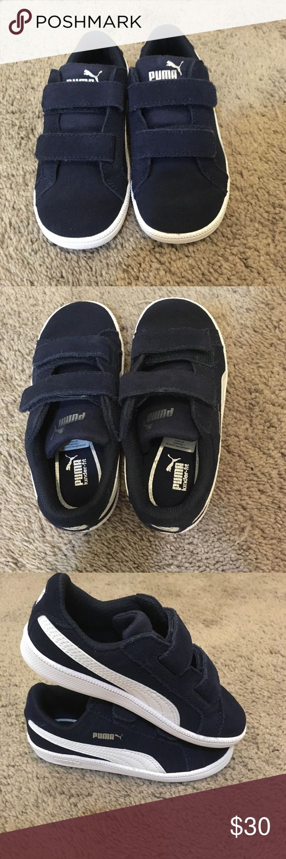 Puma Toddler Suede Sneakers Size 9C Never worn. New in box. For some reason my little two year old never wanted to wear them.... and we had others so I never pushed it! Reasonable offers welcome. I'm very flexible with bundles! Puma Shoes Sneakers