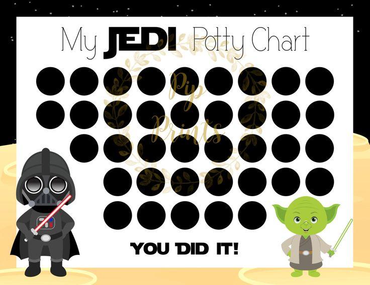 Printable Star Wars Potty Chart Darth Vader And Yoda