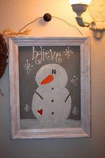 Cheap Christmas Craft @ http://christyrobbins.blogspot.com/2011/07/50-cent-screen-snowmen.html