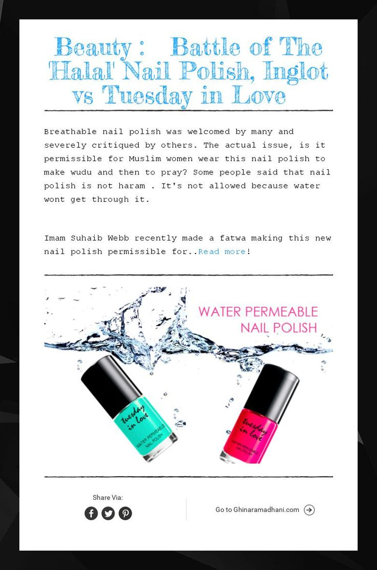 Beauty : Battle of The 'Halal' Nail Polish, Inglot vs Tuesday in Love
