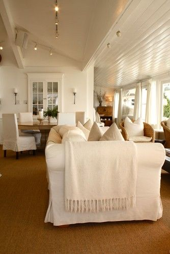 HomeIdeas, Dining Room, Beach Houses, Livingroom, Beach Cottages Style, Traditional Living Rooms, Families Room, Beachhouse, White Room