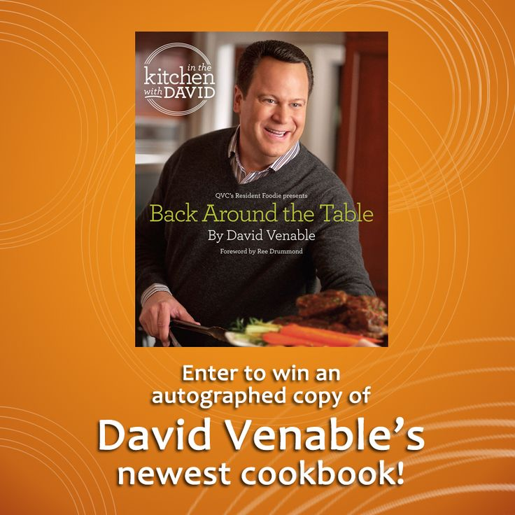 David Venable visited us in the Mr. Food Test Kitchen to share some tasty recipes from his brand new cookbook. Check out the recipes & interviews plus enter for a chance to win your own copy of the book!