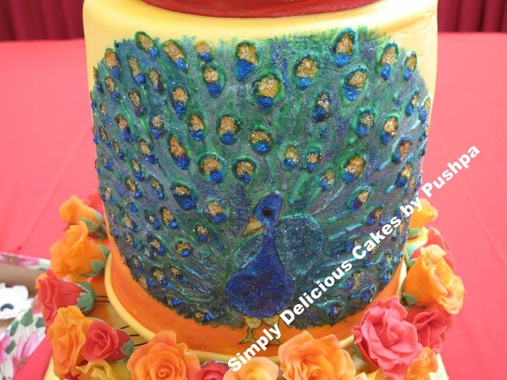 Traditional Indian Wedding Cake By Pushpa Of Simply Delicious Cakes