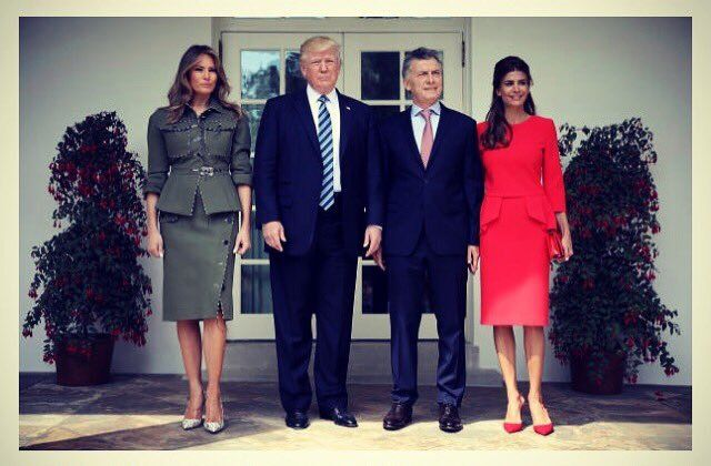 Melania Trump  ‏  Verified account     @FLOTUS   27 Apr 2017  More  .@POTUS and I hosted President Macri & First Lady of Argentina @WhiteHouse today to further the partnership between our countries.   - Melania Trump (@FLOTUS) | Twitter