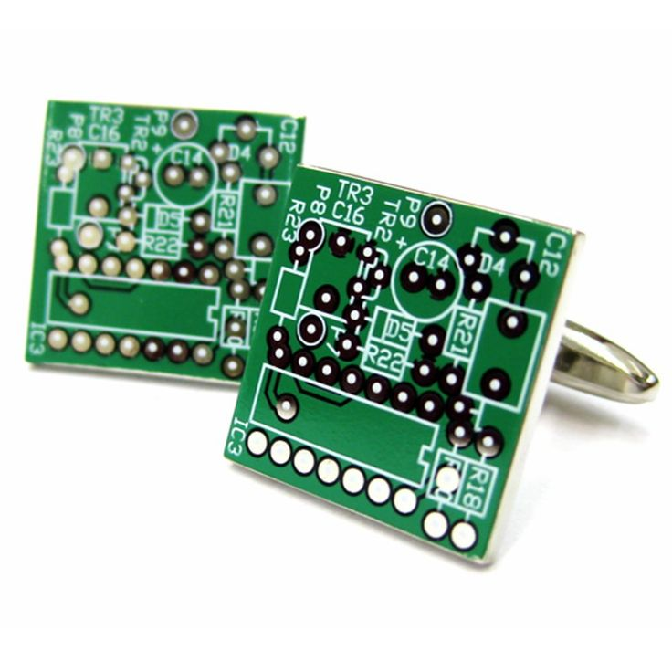 Green Computer Nerd Circuit Board Cufflinks D3421. High quality men's cufflinks Nickel Free. Great for casual and formal occasions. Highly fashionable and suitable for office attire. Rhodium plated base metal and enamel. Makes a great wedding, graduation, or birthday gift!.